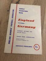 ENGLAND V GERMANY SCHOOLS INTERNATIONAL ROKER PARK SUNDERLAND 1969/70