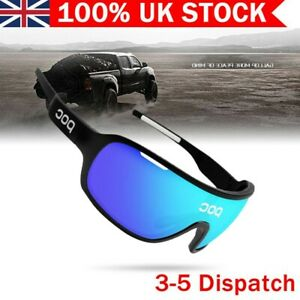 UK POC Cycling Biker Sunglasses Glasses With 4pc Replace Lens