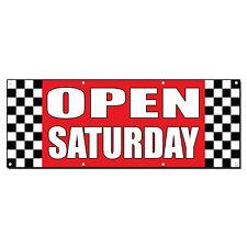 Open Saturdays Auto Body Shop Car Repair Banner Sign 2 ft x 4 ft /w 4 Grommets