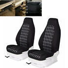 2PC Front Car Seat Covers Protector Fit for High-Back Bucket Seats Accessories  for sale