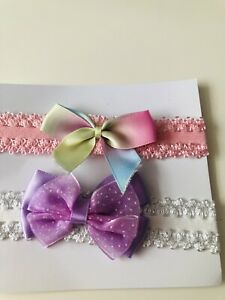 2 Pretty Baby Annabel/baby Born Head Bands Hand Made