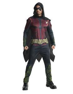 "Robin Costume, Mens Arkham City Outfit, XL,CHEST 44-46"",WAIST 36-40"",INSEAM 33"""