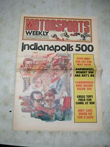 Vintage May 29 1974 Motorsports Weekly Indianapolis 500 Newspaper Auto Racing
