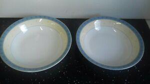 "Wedgwood Capri 2 x Pasta Bowls 9"" New."