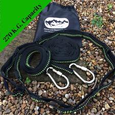Garden Hammock Tree Straps (Multi Loop adjustable) with carabiners and bag