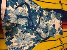 GIRLS RARE EDITIONS SIZE 8 DRESS/FORMAL WEAR BLUE AND WHITE FLOWERS