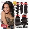 3Bundles Brazilian 100% Virgin Human Hair Body/Deep Wave/Straight Hair Weaving