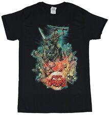 Army of Darkness Mens T-Shirt - Green Tinted Ash on Horseback Image