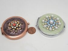 COLLECTIBLE BEADS LOT 2 Round AGENTO 2 MIRRORS+SPRING STREET PILLS/SMALL Jewelry