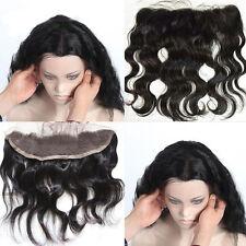 "13""x2"" Brazilian Virgin Body Wave Ear to Ear Full lace Frontal Closure Baby Hair"