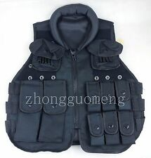 NYLON ZIP COSPLAY CLOTHES KIDS BOYS SWAT TACTICAL VEST THEATER CLOTHES AGE 7-10