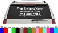 Personalized Custom Business Name Vinyl Window Lettering Decal Truck Car Sign