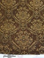 Chenille Renaissance damask Home Decor Upholstery ,Brown   Sold By  Yard 58""