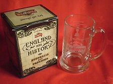 2 Pair Of Marston/'s Pedigree Pint Glasses Official Beer Of England In Gift Box