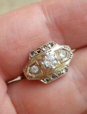 ancienne bague diamants ??moissanites , diamanites ?? en or 18k