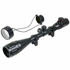 Réticule Mil-Dot Illuminé Rouge & Vert 6-24x50 Lunette de Visée Rail de 20 mm