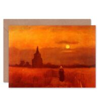 Vincent Van Gogh Old Tower In Fields 1884 Old Master Blank Greeting Card