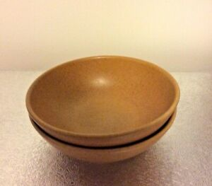 Pair of Denby Cereal bowls-sandstone yellow ochre