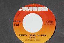 "EARTH WIND & FIRE -Evil / Clover- 7"" 45 Columbia ‎(T 54188)  1969"