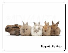 Cute Rabbits 'Happy Easter' Computer Mouse Mat Christmas Gift Idea, AR-11EAM