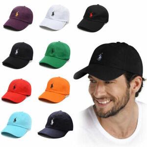 Men PL Fine Embroidery Pony Baseball Cap Women Strapback Adjustable Golf Hats