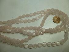 "8x10mm Flat Oval Gemstone Rose Quartz Beads Strand 15.5"" Jewelry Making Beads"