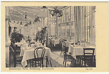 AK NORDERNEY 1926 Innenansicht Simmerings Hotel Sandstrasse    ( 778