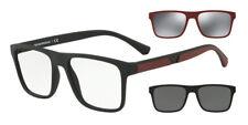 Glasses of View with 2 Clips Emporio Armani Ea4115 50421w Black Matt