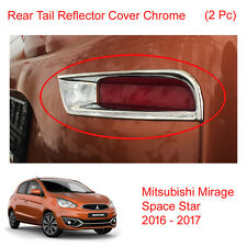 Rear Tail Reflector Cover Chrome 2 Pc For Mitsubishi Space Star Mirage 2016 - 17