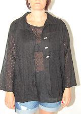 bonito conjunto calado sexy camiseta + chaleco MICHEL LIGERO t 42 (I46) NUEVO
