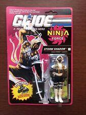 GI Joe Arah 1991 Ninja Force Storm Shadow MOC MOSC Very Nice AFA Ready