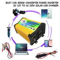 Car 300W/3000W Power Inverter DC 12V to AC 220V Converter Invertor Electronic UK