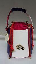 Authentic Sergio Cerruti Drawstring Bag Striped Multi Color *Brand New*