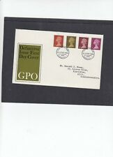 GB 1968 Machin Definitives 1/2d 1d 2d 6d FDC First Day Cover Edinburgh PB h/s