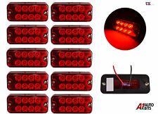 10 PCS RED SIDE 8 LED TRAILER LORRY RECOVERY POSITION LIGHTS LAMPS 12V