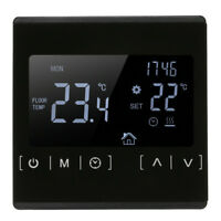 LCD Touch Screen Digital Temperature Thermostat Floor Heat Controller V0W9