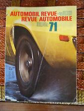 revue suisse annuelle bilingue automobil revue automobile 1971