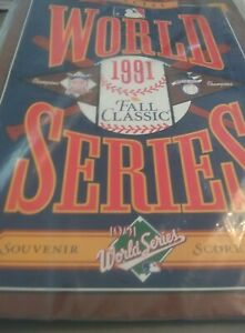 MLB Official World Series 1991 Fall Classic Souvenir Scorebook Braves vs. Twins