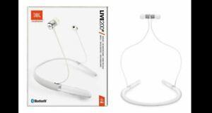 JBL Live 200BT wireless in-ear neckband headphones (WHITE) - New & Sealed!