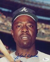 BRAVES Hank Aaron signed photo 8x10 JSA COA AUTO Autographed Atlanta Milwaukee