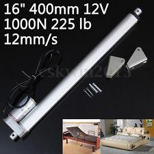 Heavy Duty Electric Linear Actuator Motor 16'' 400mm 12V 1000N Putter + Bracket