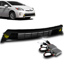 2012-2015 TOYOTA PRIUS YELLOW BUMPER FOG LIGHTS+HARNESS+GRILLE INSERT W/50W HID
