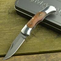 Boker Magnum Lady Damascus Blade Burlwood Handle Folding Pocket Knife 01MB788DAM
