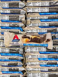 Atkins Snack Bar ~ CARAMEL DOUBLE CHOCOLATE CRUNCH ~ 60 Bars ~ 9G Protein