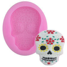 Home DIY Skull Head Silicone Fondant Cake Mould Halloween Party Chocolate