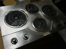 Vintage Built In 1960's HotPoint Stainless Cooktop Range