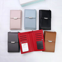 Vintage Women Wallet Purse Leather Coin Cell Phone Mini Cross-body Shoulder Bag