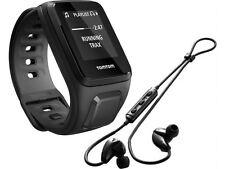 New TomTom Runner 2 Music GPS Watch + Bluetooth Headphones Small Strap Black