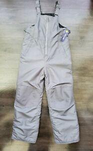 Cherokee Youth Size L (12-14) Grey Snow Bib _- Water Resistant - Reinforced Knee