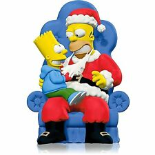 "2014 Hallmark ""D'oh! Ho! Ho!"" Ornament - The Simpsons - 25 Years - Bart & Homer"